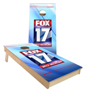 Fox 17 News custom Cornhole Boards