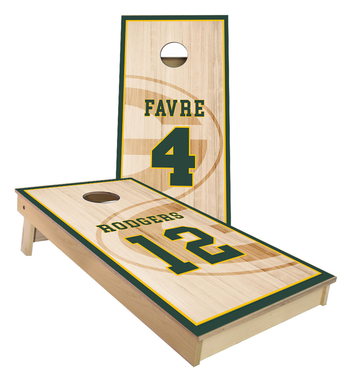 Green Bay Legends Favre and Rodgers Cornhole Boards