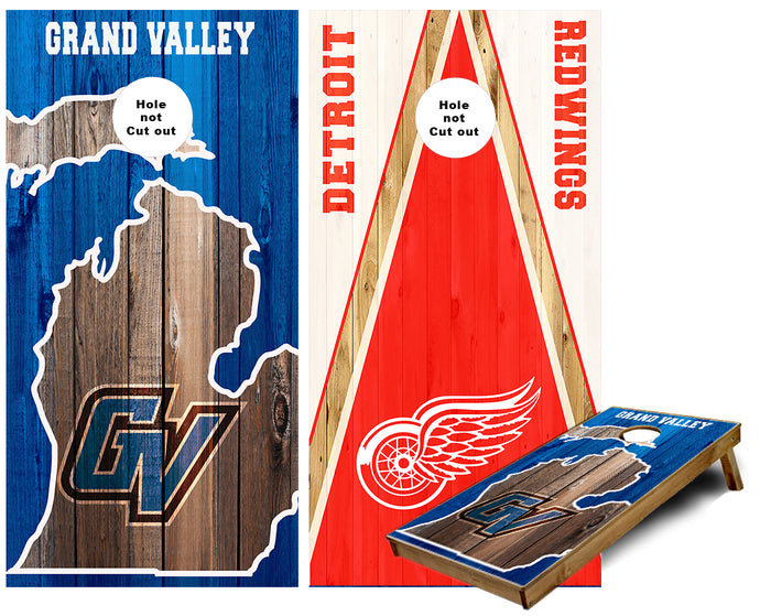 Grand Valley and DTRW Cornhole Wraps