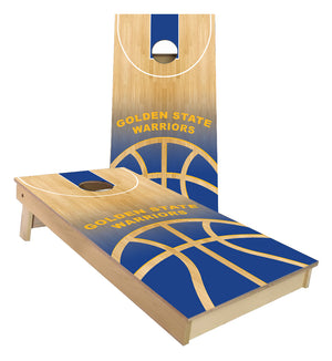 Golden State Warriors Basketball Court Cornhole Boards