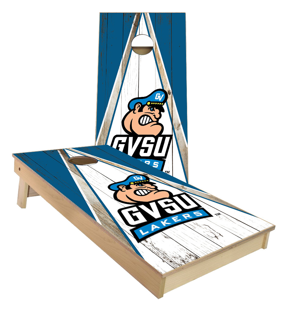 Grand Valley State University triangle themed Cornhole Boards