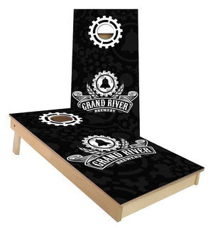 Grand River Brewery custom cornhole boards