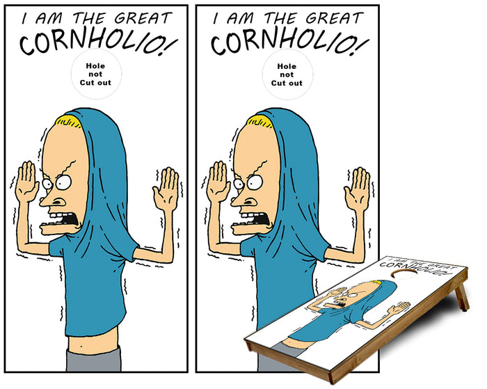 Beavis the Great Cornholio Cornhole Wraps