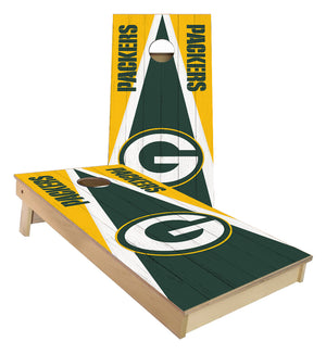 Green Bay Packers Triangle cornhole boards