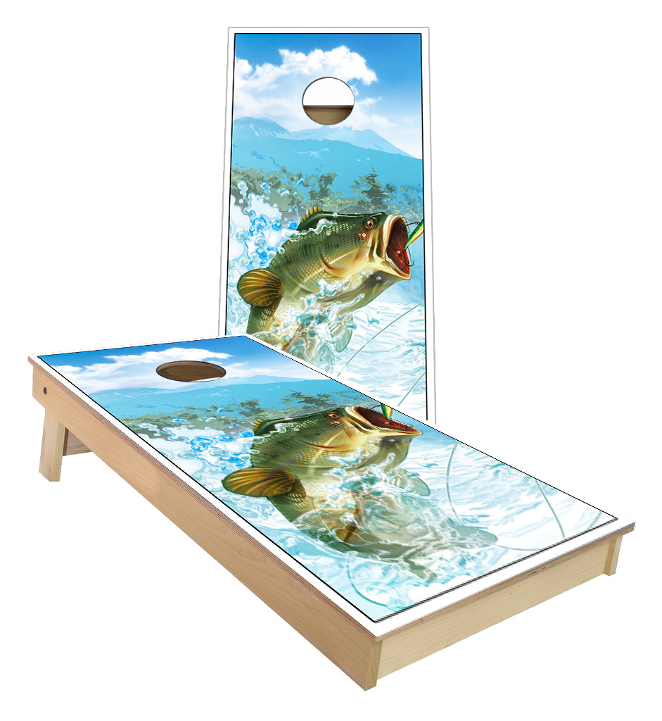 Bass Fishing Cornhole Boards