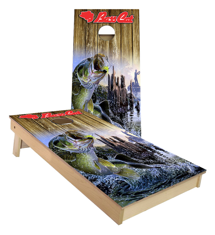 Bass cat Fishing Cornhole Boards