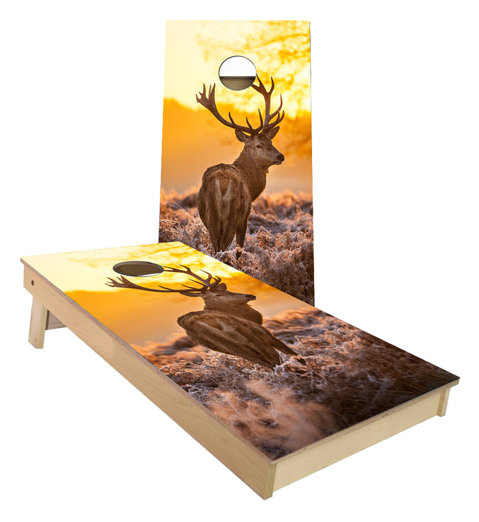 Mule deer sunset designed Cornhole Boards