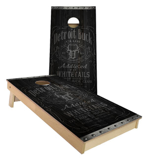 Detroit Buck Club Whiskey Design Cornhole Boards