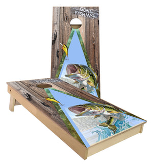 Gone Bass Fishing Cornhole Boards