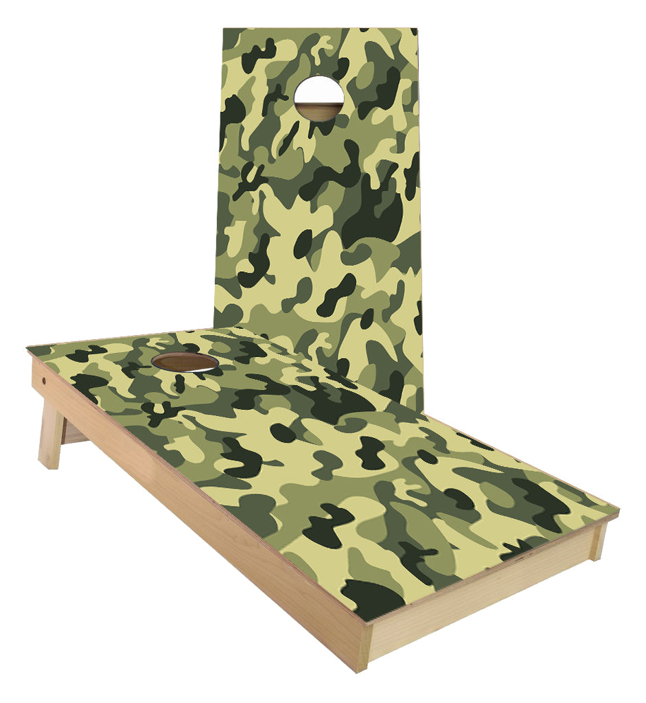 Green Camo Cornhole Boards
