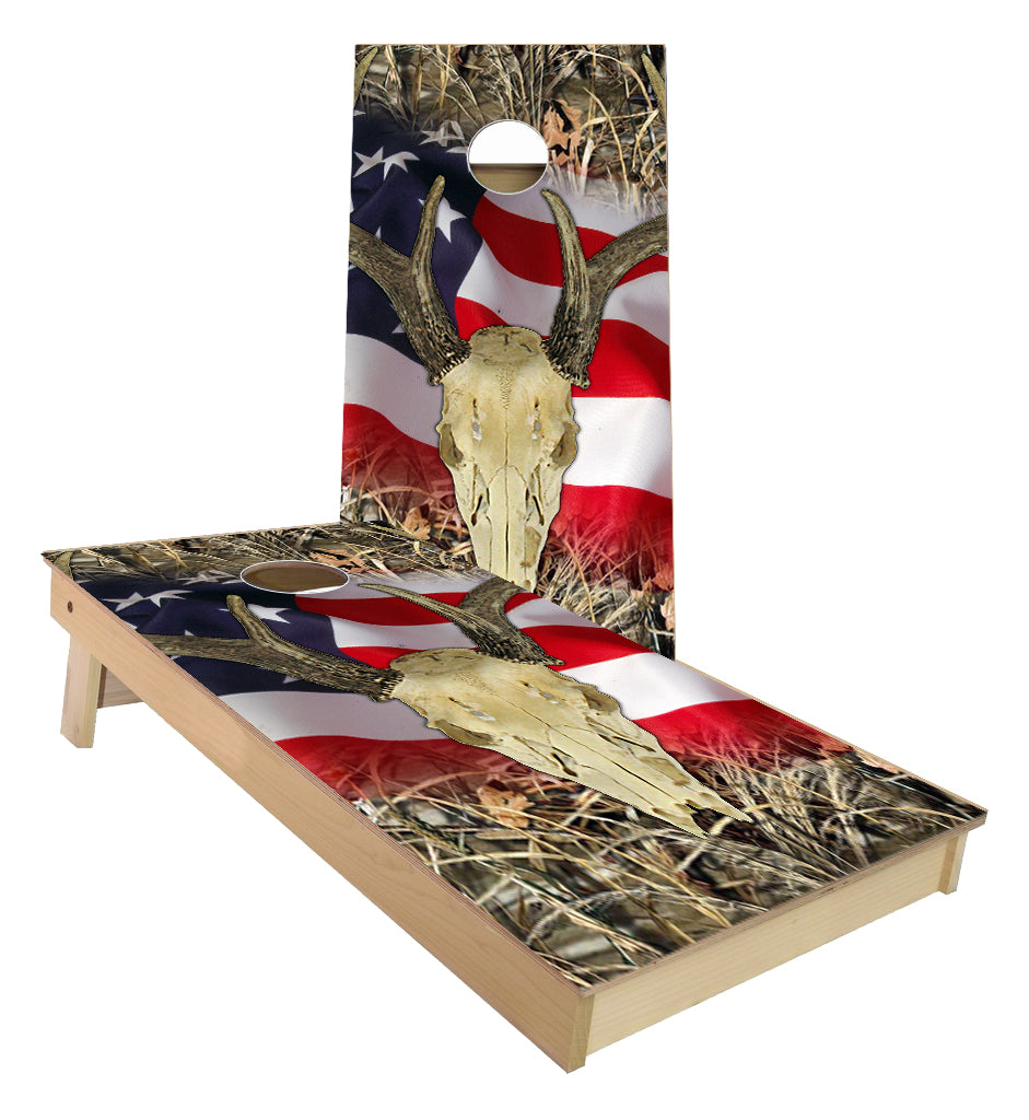 Deer Skull cornhole boards