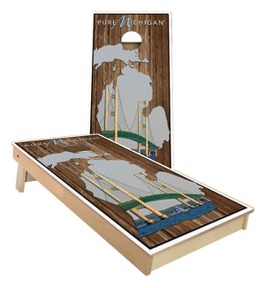 Pure Michigan Mackinac Bridge Cornhole Boards