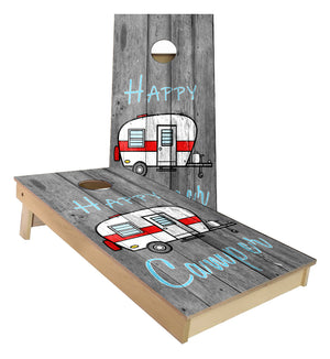 Happy Camper Camping Cornhole Boards