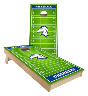 Hillsdale Chargers Football Field Cornhole Boards
