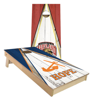 Hope college and Maryland Terps Triangle custom Cornhole Boards