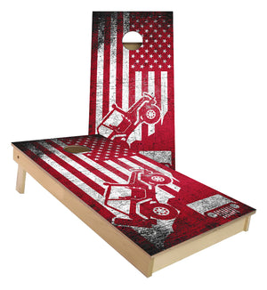 Jeep Mountain Climb USA FLAG America cornhole boards