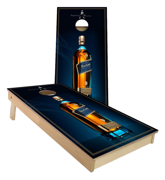 Johnnie Walker Blue Label cornhole boards