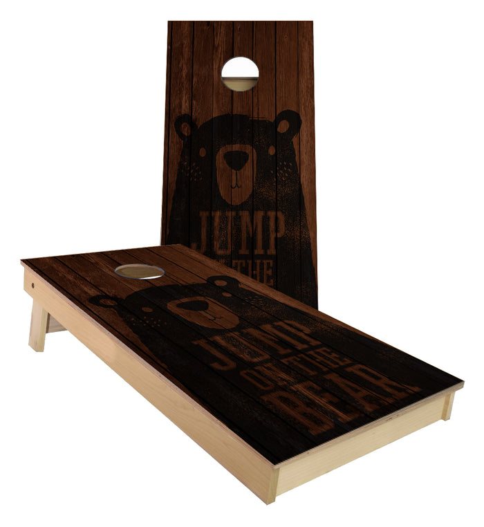Jump on the Bear Cornhole Boards