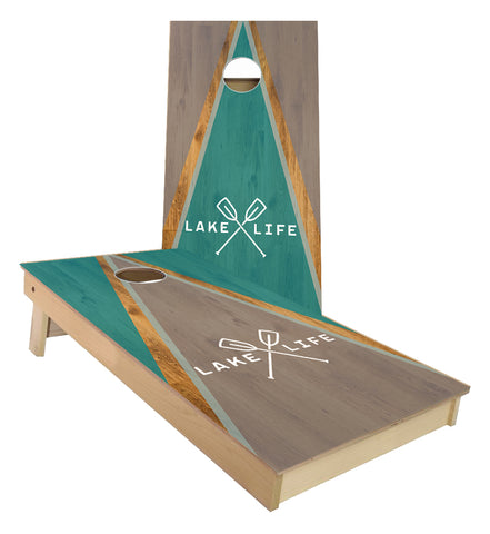 Lake Life Triangle Cornhole Boards