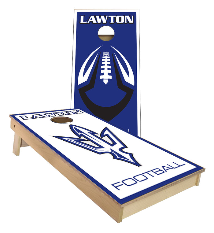 Lawton Football Cornhole Boards