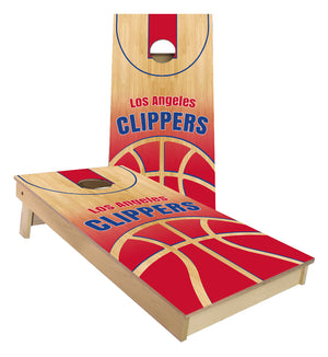 Los Angeles Clippers Basketball Court Cornhole Boards