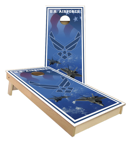 US Airforce Jets cornhole boards