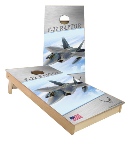 US Airforce F22 Raptor cornhole boards
