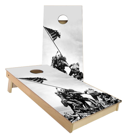 Marines Iwo Jima Flag Raising cornhole boards