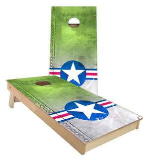USA Airforce Logo on Airplane Metal cornhole boards