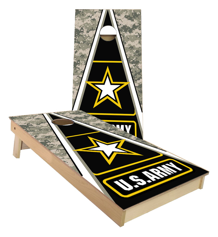 United States Army Triangle cornhole boards