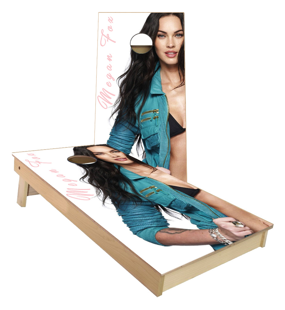 Megan Fox Model cornhole boards