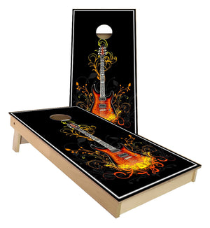 Guitar Design Cornhole Boards