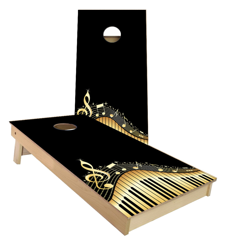 Piano Keyboard Musical Notes Cornhole Boards
