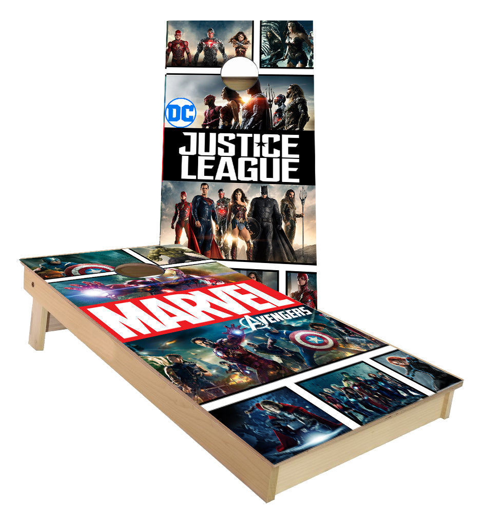 Marvel and DC Comics  Cornhole Boards