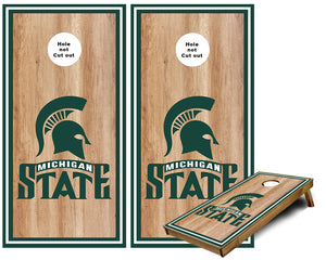 Michigan State sports stripes Cornhole Wraps