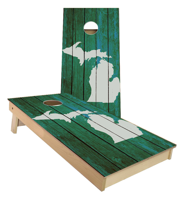 Mitten State Michigan Cornhole boards