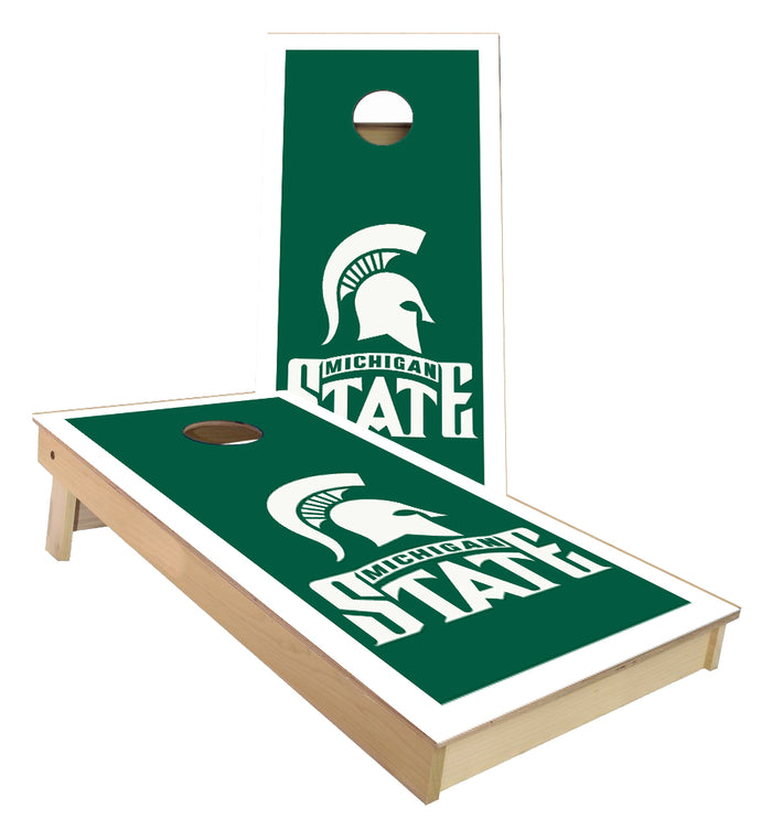 Michigan State Spartans inversed Cornhole Boards