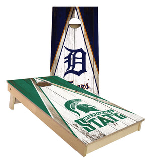 Michigan State and Detroit Tigers Cornhole Boards