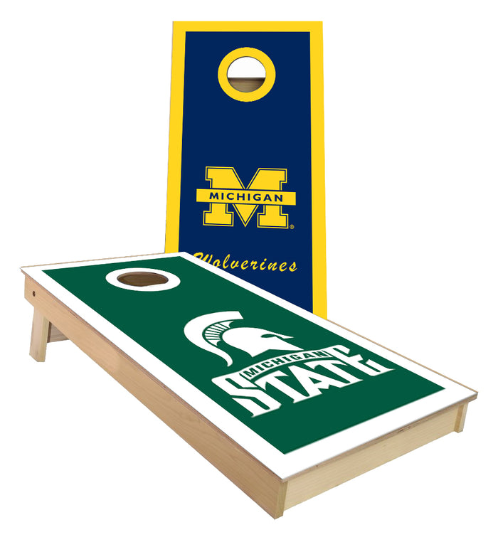 Michigan and Michigan State Cornhole Boards