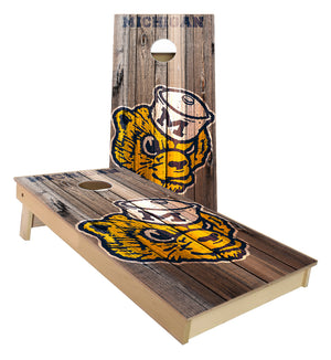 Michigan University Wolverines Old Logo Cornhole Boards