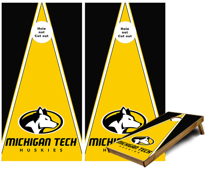 Michigan Tech Huskies Cornhole Wraps
