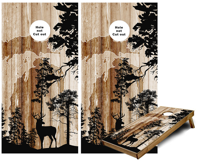 Michigan Whitetail Deer Hunting  Cornhole Wraps