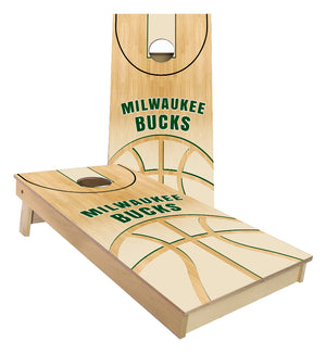 Milwaukee Bucks Basketball Court Cornhole Boards