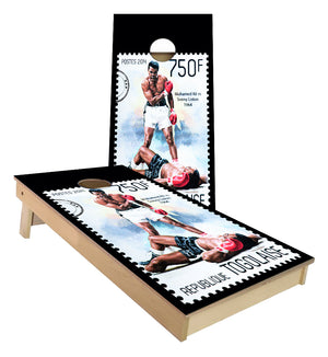 Muhamad Ali Boxing Legend Stamp design Cornhole Boards