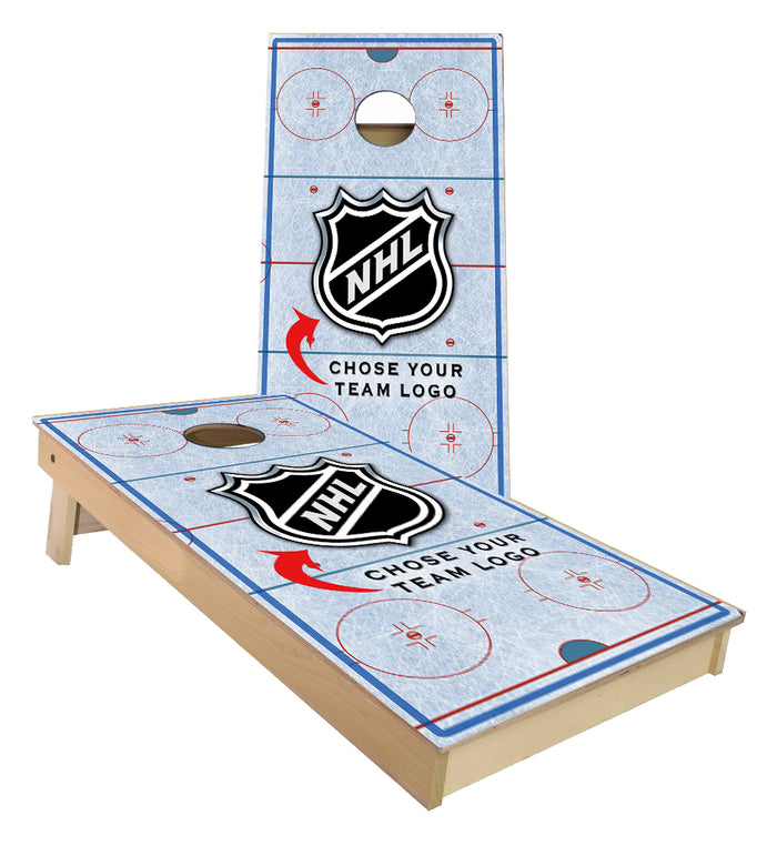 NHL Ice Rink Cornhole Boards  (Choose your favorite team)