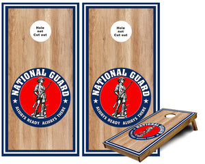 National Guard Logo with Outer stripes Cornhole Wraps