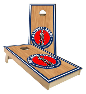 National Guard Stained wood Cornhole Boards