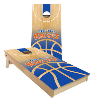 New York Knicks Basketball Court Cornhole Boards