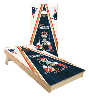 New England Patriots triangle cornhole boards