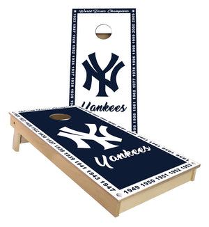 New York Yankees  championship banner Cornhole Boards